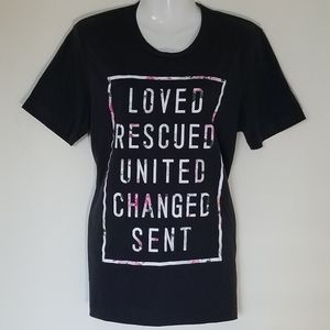 Loved Rescued United Changed Sent Tshirt